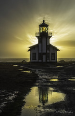 Point Cabrillo (smbrooks_2000) Tags: pointcabrillo lighthouse california mendocino reflection sky ocean clouds sunset