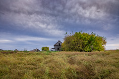 The Feigning (gerrypocha) Tags: abandoned derelict lostsummer fall prairie saskatchewan province sky color