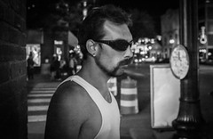 Incognito Not (Tom Frundle) Tags: street summer man sunglasses night fun iso3200 cool downtown nashville lol citylife streetphotography dude x100 2013 fujix100