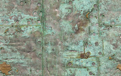 Seamless-Repeating-Corroded-Copper-Sheet-Texture-Tile (Aaron & Radhika) Tags: camera new green art texture beach metal photoshop found island bay design coast nikon shiny aqua artist raw pattern post designer timber background steel nail aaron captured content zealand filter adobe heads wellington copper reflective sheet material aged dslr seam processed corrosion seamless repeat corroded offset fill aware nailed repeating repeated discovered cs5 openshaw d3100