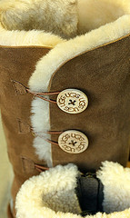 Boot buttons! (SteveJM2009) Tags: uk fur december boots buttons dorset bournemouth suede 46 ugg stevemaskell 2014 52in2014