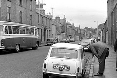 Fort Street (Dundee City Archives) Tags: fortstreet broughtyferry austin mini csr774c 850cc old photos 1965 july 1960s hillman cunninghams buses 8 underwoodroad paisley