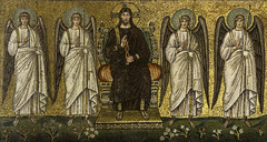 The Son of Man Enthroned (Lawrence OP) Tags: king mosaics lord unesco angels judge throne ravenna jesuschrist lastjudgement santapollinarenuovo