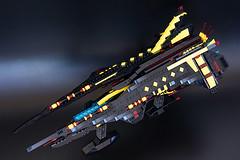 Space German (Milan Sekiz) Tags: black ship lego space large craft cannon scifi