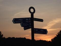Direction (chrisroach) Tags: sunset silhouette manchester sale signpost chorlton waterpark didsbury