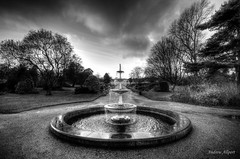 Make a Wish (Andrew Allport) Tags: white black water fountain gardens botanical mono photo flickr pentax sheffield picture sigma photograph wish 1020mm k5 pavillions pentaxk5