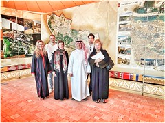 Hungarian Tourists posing with the Curator of Al Diriyah 'Open Museum' (act.marketing) Tags: heritage history tourism argentina model dubai hungary desert soccer culture unesco arabic safari arab saudi hotels mauritius riyadh hospitality mosques