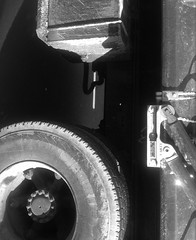 Black & white truck (Lynn Wise1229) Tags: blackandwhite abstract exterior realestate streetphotography blacknwhite