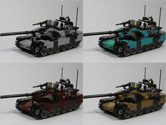 """Like a Bad Andy Warhol, or """"Atlas Warhol'd"""" (Tomcat Bobcat) Tags: 2 painting tank lego main picture battle any atlas warhol mbt recolor brickarms"""