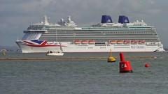 P&O cruise ship Britannia sails past Cowes, Isle of Wight (Cowes Harbour) Tags: isleofwight po cruiseship cowes britannia