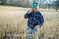Soybean farmer talking on his cell phone in soybean field in Jarrettsville, Maryland, USA (Remsberg Photos) Tags: usa man field phone farm harvest maryland crop ag farmer soybean agriculture talking jarrettsvillemd