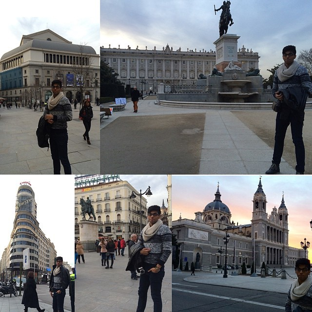 #Madrid is where I can find the beauty of the Spanish Kingdom #Spain #Madrid #touring #around #fun #visiting #places #Teatro_real  #Palacio_real #Gran_via #Centra_del_sol #chatedral_de_Ntra_sar_de_la_amuoena