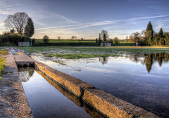 Watercress beds at Headbourne Worthy, Hampshire