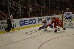 Original 6 Battle (Innerspacealien) Tags: red ice mike hockey nhl wings montreal detroit drew miller weaver redwings mikeweaver detroitredwings joelouisarena drewmiller