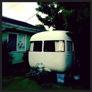 030/365 • and now we sleep • #030_2015 #caravandwellers #caravan #vintagecaravan #newbeginnings #nofixedaddress #goodnight #sunliner #abigday