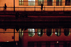 13Anne-Marie Bonnisseau Canal Saint-Martinred (Anne-Marie Bonnisseau) Tags: paris canal lumière couleurs nuit lumire