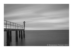 C O L D in mono (frattonparker) Tags: longexposure sea sky clouds raw jetty tripod isleofwight solent englishchannel lamanche cs6 nikkor18300mmvr bw10stopndfilter nikond5000 btonner frattonparker