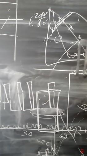 Blackboard (Mark Kaletka) Tags: chalk drawings math physics calculus fermilab chalkboard blackboard equations ferminationalacceleratorlaboratory