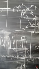 Blackboard (Mark Kaletka) Tags: chalk drawings math physics calculus fermilab chalkboard blackboard equations ferminationalacceleratorlaboratory