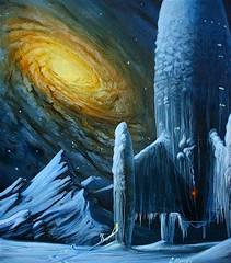 Snowbound Spaceship (4peepsake) Tags: galaxy scifi sciencefiction spaceship frozenplanet