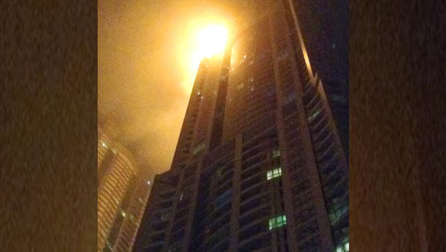 Fire at Dubais Torch apartment skyscraper, no casualties reported