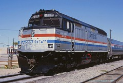 Amtrak 231,  Parker Arizona, 04/17/1998 (jackdk) Tags: railroad train railway amtrak locomotive f40 emd parkeraz parkerarizona emdf40 amtrakf40 amtrak231