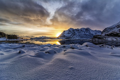 SunsetOverSnow (b1rdsick1) Tags: winter sunset nikon tokina lofoten 1116 d7100