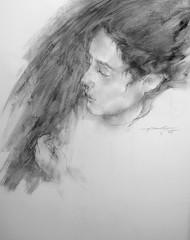 P1015318 (Gasheh) Tags: art painting drawing sketch portrait child girl pencil pastel gasheh 2016