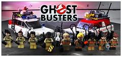 Ghost Family (LegoKlyph) Tags: movie lego ghost custom 1980s ghostbusters alltogether 2016 ecto1 classicvsnew