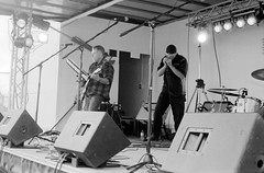 Canada Day band 03 (Eric Hartke) Tags: blackandwhite music film diy band ilfordhp5 canadaday nikkormat filmisnotdead 50f2 loveoffilm