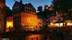 Monschau by night (03) (Ld\/) Tags: old city trip night germany deutschland town europe eifel juillet allemagne monschau mdieval nightcity 2016 citytrip montjoie altstatt