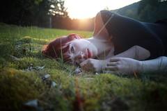 Jule (nne) Tags: annekrmer kraemer kramer girl woman portrait sun beauty grass nature sunlight light warm evening golden goldenlight red redhead face lovely love beautiful