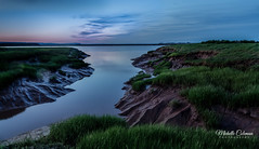 Dusk on the Dykes (Michelle Coleman) Tags: dykes canada novascotia dusk wolfville bluehour cornwallisriver
