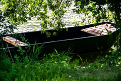 Peace (blueb3ll) Tags: water grass river reeds boat peace tranquility silence stillness symbolism 201607