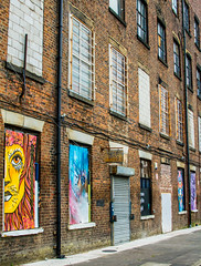 art in the mill windows (PDKImages) Tags: urban streetart art mill abandoned beauty lady contrast manchester graffiti eyes colours anger lips fortune hidden angry drama fortuneteller unexpected teller liom