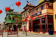 Los Angeles China Town (Prayitno / Thank you for (10 millions +) views) Tags: china california ca blue sky building classic architecture la town los downtown day time angeles outdoor traditional chinese decoration sunny architect decor lampion lampoon konomark
