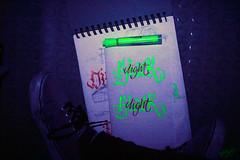 caligrafa fluorescente (angie.qs) Tags: light black letters calligraphy blackletter letras caligrafia caligrafa handletter gothicletters customletters