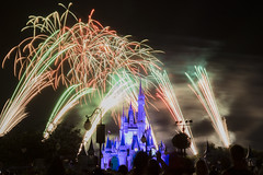 wishes fireworks (andyd655) Tags: disneyworld magic kingdom hollywood studios florida orlando fireworks castle wishes star wars sparke canon 70d 1755 28