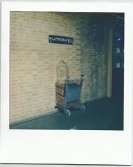 Platform 93:4, King's Cross St Pancras station (summertee1502) Tags: polaroid sx70 harry potter kingscross stpancras platform934 polaroidsx70