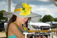 Young Lady (Alfredk) Tags: girl hat festival bluegrass maine whitesbeach alfredk