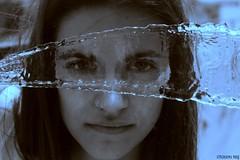 water mask (stergiou_niki) Tags: blue white black water girl grey blackwhite nikon mask portret nikond3200 spead d3200