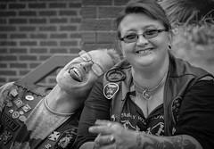 Good friends! (Trevor King 66) Tags: 2016 bikeshow lastresort friends people bikers portrait bw blackandwhite monotone nikon d3100
