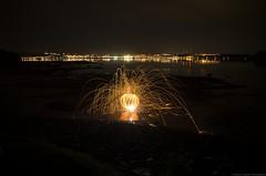 steel wool  La Baie (yannick_gagnon) Tags: steelwool light lightpainting fire longexposure longueexposition labaie nuit night nights saguenay saguenaylacstjean soir