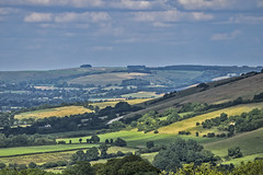 Bulbarrow Hill north (HHH Honey) Tags: sonya7rii dorset sony70300g 116picturesin2016 summer birthdaymicrominimoon 71highvantagepoint 71 highvantagepoint bulbarrow bulbarrowhill landscape clouds cloudscape