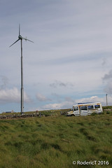 20160704-IMG_5703 Wind Turbine Old Derelict Minibus North Of Pierowall Westray Orkney.jpg (rodtuk) Tags: phototypes roderickt scotland misc technology westray bus b24 orkney 70d vehicle places uk kit