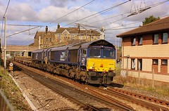 Double Sheds at Carnforth (Chris Baines) Tags: drs 66429 66432 carlisle crewe basford hall freight