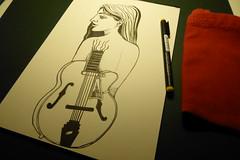 Sketch 004 (Sellanes Sketch Journal) Tags: sketch dibujo drawing doodle girl guitar ink inkart artwork sellanes recording camera panasonic pen
