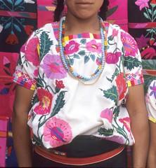 Zinacantan Woman Huipil Chiapas Mexico (Teyacapan) Tags: huipiles huipils mexican mexico textiles ropa maya clothing chiapas mujer woman embroidered bordados