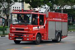 Singapore Civil Defence Force Dennis Sabre HD Pump Ladder (PL) 111 (nighteye) Tags: singaporecivildefenceforce scdf dennis sabre hd pumpladder pl111 yj9764x singapore