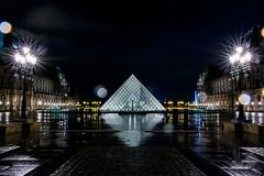 Pyramide du Louvre @ night (LandAndNightscape) Tags: louvre longexposure bulb rain france paris muse museum night nightscape pyramide pyramid monument patrimoine